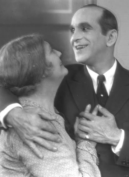 "Eugenie Besserer and Al Jolson in ""The Jazz Singer,"" movie's first talkie. Charles - 2/12/1959. File photo"