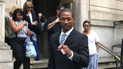 Michael Maurice Johnson, shown walking out of a downtown courthouse after a pretrial hearing last year, is being tried for a third time in the death of Phylicia Barnes.