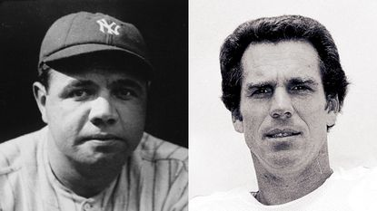 Babe Ruth, left, and Roger Staubach were named recipients of the Presidential Medal of Freedom by President Donald Trump. Ruth was born in Baltimore and Staubach played for Navy.