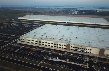 The existing Amazon and Under Armour warehouses at the Tradepoint Atlantic development in Sparrows Point.