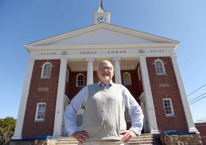 <p>Tom Foster, Worshipful Master of the Ionic Lodge in Reisterstown, on Wednesday, Oct. 4.</p>