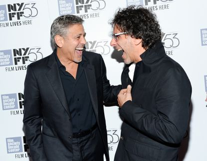 George Clooney reunites with the Coen brothers at 'O Brother' anniversary screening