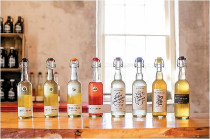 Millstone Cellars, of Monkton, display their bottles. They will be one of two cideries featured at this year's Maryland Wine Festival Sept. 17 & 18.