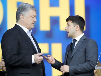Comedian who plays president on TV headed for landslide victory in Ukraine's presidential election