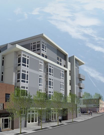 Residential units are going up at the former Haussner's location in Highlandtown, in a building being called the Highland Haus.