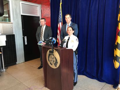 Baltimore County Police Chief Melissa Hyatt discusses a shooting at a Rosedale shopping center that left one dead and five others injured March 7, 2020.