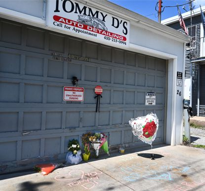 Flowers and messages are being placed at Tommy D's Detail auto shop. Owner Tommy Dent died a few days ago, unexpectedtly.
