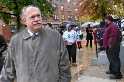 Baltimore's housing chief, Paul T. Graziano, on a recent tour of apartments that need repairs at Gilmor Homes.