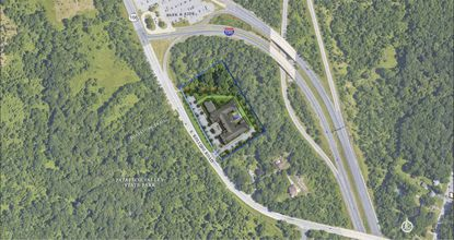 An illustrative site plan shows the proposed luxury town home complex at 1231 S. Rolling Road that County Councilman Tom Quirk opposes after local residents voiced their concerns.