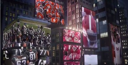 Hampden company creates set for ESPN College Football Playoff commercial