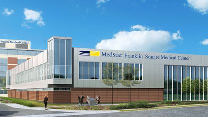 MedStar Franklin Square Medical Center broke ground Monday on a new $70 million surgical pavilion, as depicted in this rendering.