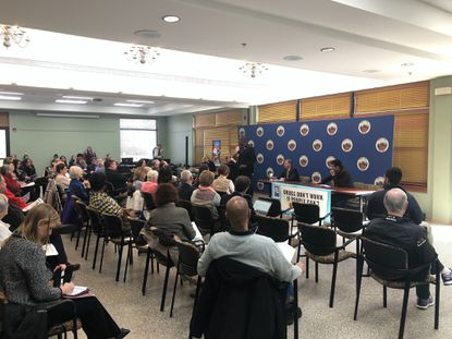 Howard County hosted a forum Monday afternoon at the Ellicott City 50+ Center to get community input on the rising cost of prescription drugs.
