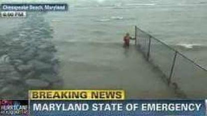 CNN's Chris Lawrence at Chesapeake Beach