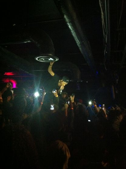 A$AP Rocky performs 'Out of This World' in the back of Baltimore Soundstage on Tuesday night.