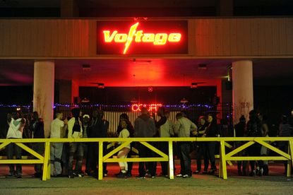 Patrons wait to enter Voltage nightclub in 2014 before a shooting on the dance floor caused its liquor license to be revoked.