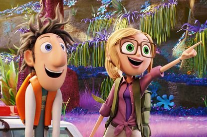 """A scene from """"Cloudy with a Chance of Meatballs 2,"""" which is expected to top the box office this weekend."""