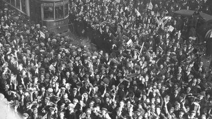 Armistice Day 1918 at Baltimore Polytechnic.