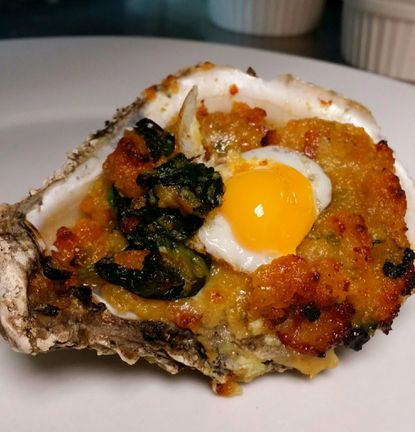 Oysters Roosterfella is on the menu at Iron Rooster, an all-day breakfast restaurant opening in mid-October in Annapolis.