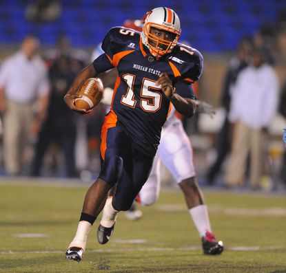 Morgan State quarterback Robert Council, pictured here in a 2012 game, got the start for injured quarterback Seth Higgins on Saturday.