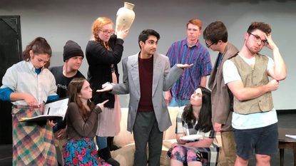 """Members of the theatre department at Glenelg High School have been working hard on their fall theatrical performance of the slapstick comedy """"Noises Off."""""""