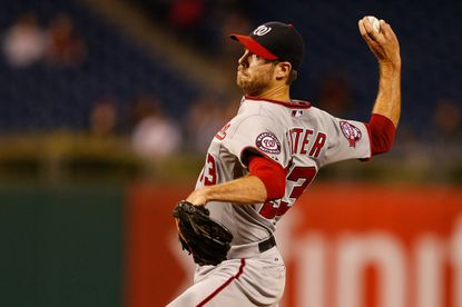 Doug Fister of the Washington Nationals throws a pitch in the 11thinning of the game against the Philadelphia Phillies at Citizens Bank Park on Sept. 14, 2015 in Philadelphia.