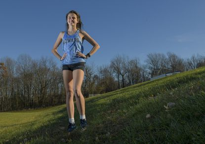 Howard's Amanda Eliker is the 2019 Howard County girls cross country Runner of the Year. Eliker, the fastest girls runner in the county, led Howard to county, region and state championships this season.