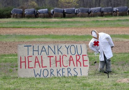 The people of Owings Mills thought of a creative way to thank health care workers putting their lives at risk to care for patients during the pandemic.