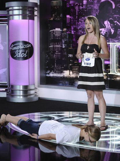 "Samantha Novacek sings and sister Patricia ""The Planker"" Novacek helps. Sortof."