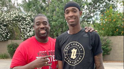 Odenton resident Tariq Owens said his father Renard, left, was the driving force behind his basketball success.