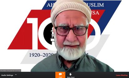 "Murabbi Mubasher Ahmad, imam of the Silver Spring-based Ahmadiyya Muslim Community USA, speaks as part of the first annual ""virtual iftar,"" titled ""The Power of Prayer in a Pandemic."" The meeting was webcast across the state via Zoom Saturday."