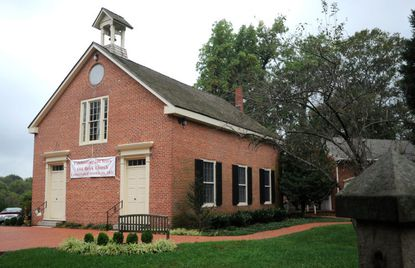 """This is the exterior of """"Old Brick,"""" the original part of Christ Episcopal church, which dates to 1809."""