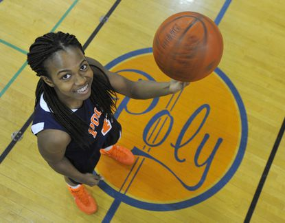 Poly senior point guard Jasmine Smith.
