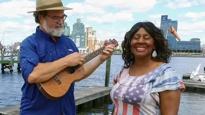 "Jeff Holland and Kathy Diggs, both well-known Annapolis singers, have recorded a new song they think would make a great replacement for ""Maryland, My Maryland."""