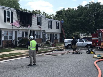 The Baltimore County Fire Department responded to an explosion at a house in the 4200 block of Twin Circle Way on Tuesday. One person was taken to Johns Hopkins Bayview with severe burns.