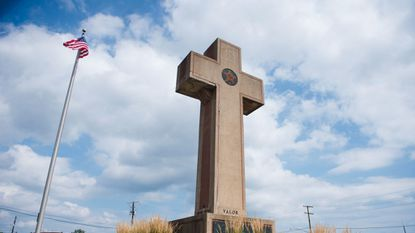 Built in memory of the 49 men of Prince George's County who died in World War I, the Peace Cross stands 40-feet tall.