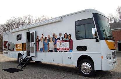 """County health workers traversed the county in an outfitted van called the """"wellmobile"""" before the pandemic. Employees would pass out Narcan, a nasal spray that can reverse the effect of an overdose, administer buprenorphine, and provide fentanyl test strips to reduce the risk of overdose for individuals who are not yet committed to treatment."""
