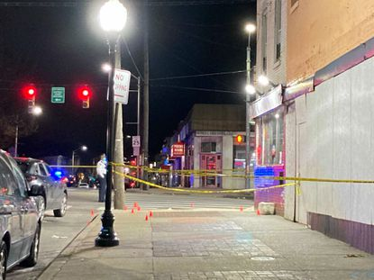A shooting Tuesday night in South Baltimore's Brooklyn neighborhood left one man dead and two others injured. South Baltimore experienced a particularly high level of violence in a week that saw seven people killed and 16 shot citywide.