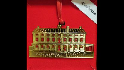 The GFWC Woman's Club of Westminster has issued its 2016 annual holiday ornament. It is the 13th in the series, and depicts The Carroll County Almshouse and Farm, located at 500 S. Center St., Westminster.