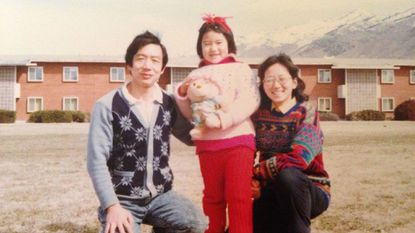 Leana Wen and her parents in Logan, Utah.