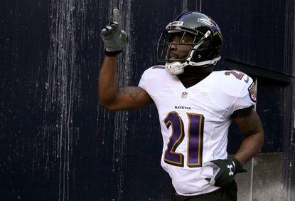 Ravens cornerback Lardarius Webb before the team's playoff game against the New England Patriots on Jan. 10, 2015.
