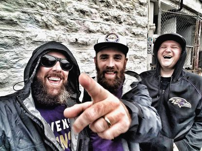 "Rappers and musicians Robert ""McFreshington"" Norton (left) and Matthew ""Matthew Edward"" Richey (right) are behind 'Ravens Nation,' and the Lamar Jackson-themed song, 'Beleedat.'"