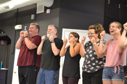 Members of the theatre company Players On Air, Inc. rehearse for their second Broadway Revue, scheduled for Aug. 10, 2019 at 7:30 p.m. - Original Credit: Courtesy Photo