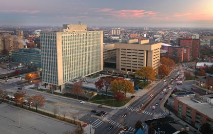 The 28-acre, 1960s-era State Center complex is home to offices for the state departments of health and labor and hundreds of state workers. Its redevelopment has in the past been seen as key in jump-starting investment in nearby, economically depressed West Baltimore neighborhoods. (Jerry Jackson/Baltimore Sun).