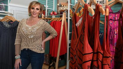 Jenn Skarda is the owner of Sayre's Eden Boutique at 8249 Main Street, which sells clothing and accessories for women.