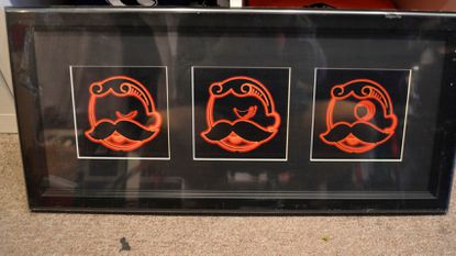 2012 file image of a winking Boh print from the Natty Boh Gear store in Fells Point.