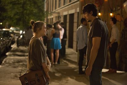 "Lena Dunham as Hannah (left) and Adam Driver as Adam in ""Girls."""