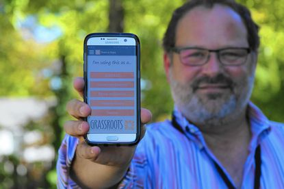 Seth Knobel, director of crisis services at Grassroots, hopes a new app will raise awareness about suicide prevention.