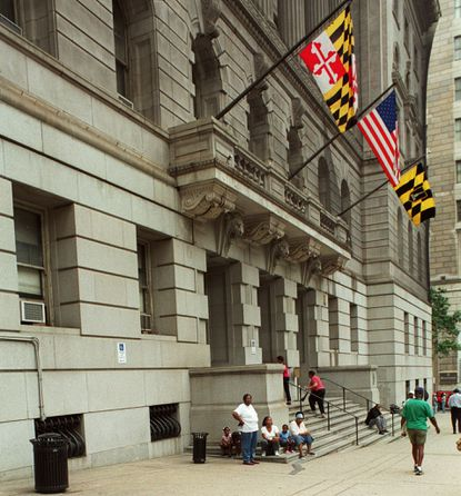 The court house in Baltimore. Strengthening a witness intimidation bill passed more than a decade ago could help better protect people scared to testify because of retaliation.