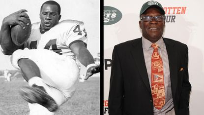 A 1964 file photo of Emerson Boozer at Maryland State, and a shot of him from September.