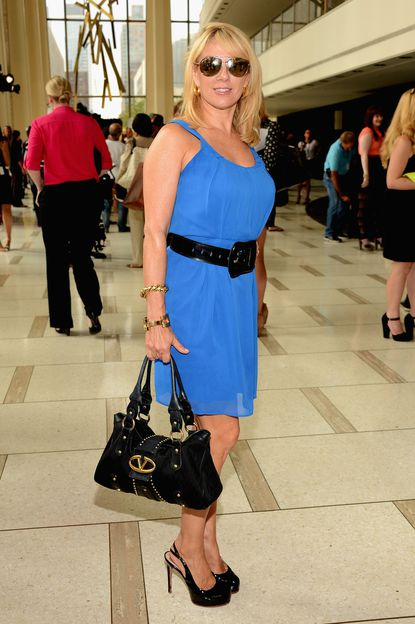 TV personality Ramona Singer poses at the Pamella Roland Spring 2013 fashion show presentation during Mercedes-Benz Fashion Week at Avery Fisher Hall at Lincoln Center on September 7, 2012 in New York City.